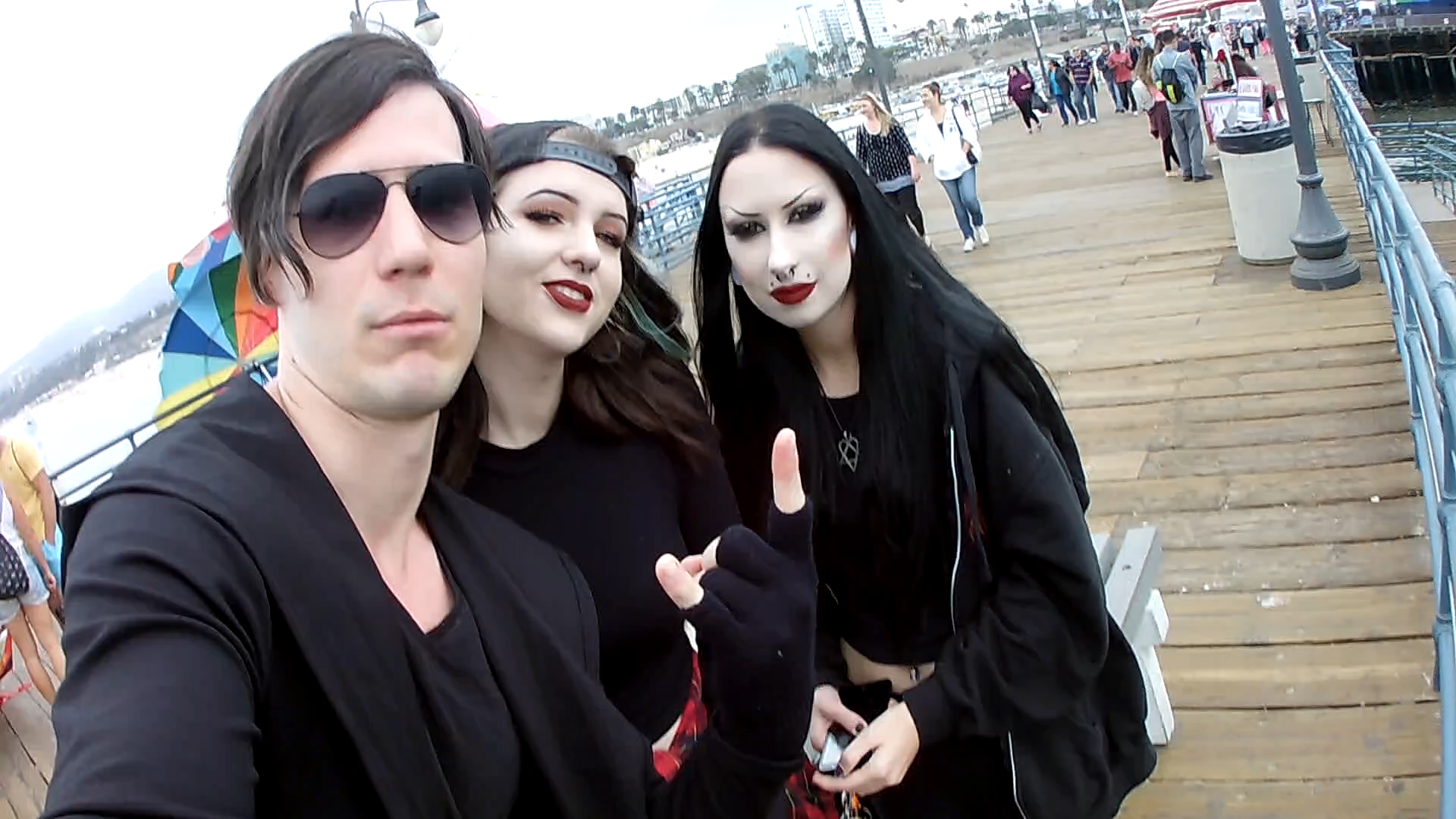 With adorable ladies - Santa Monica Pier - Los Angeles CA 2016
