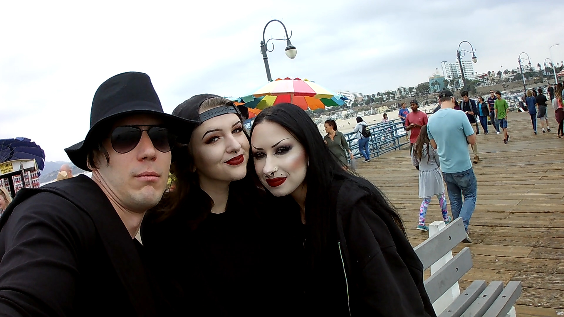With adorable ladies 2 - Santa Monica Pier - Los Angeles CA 2016