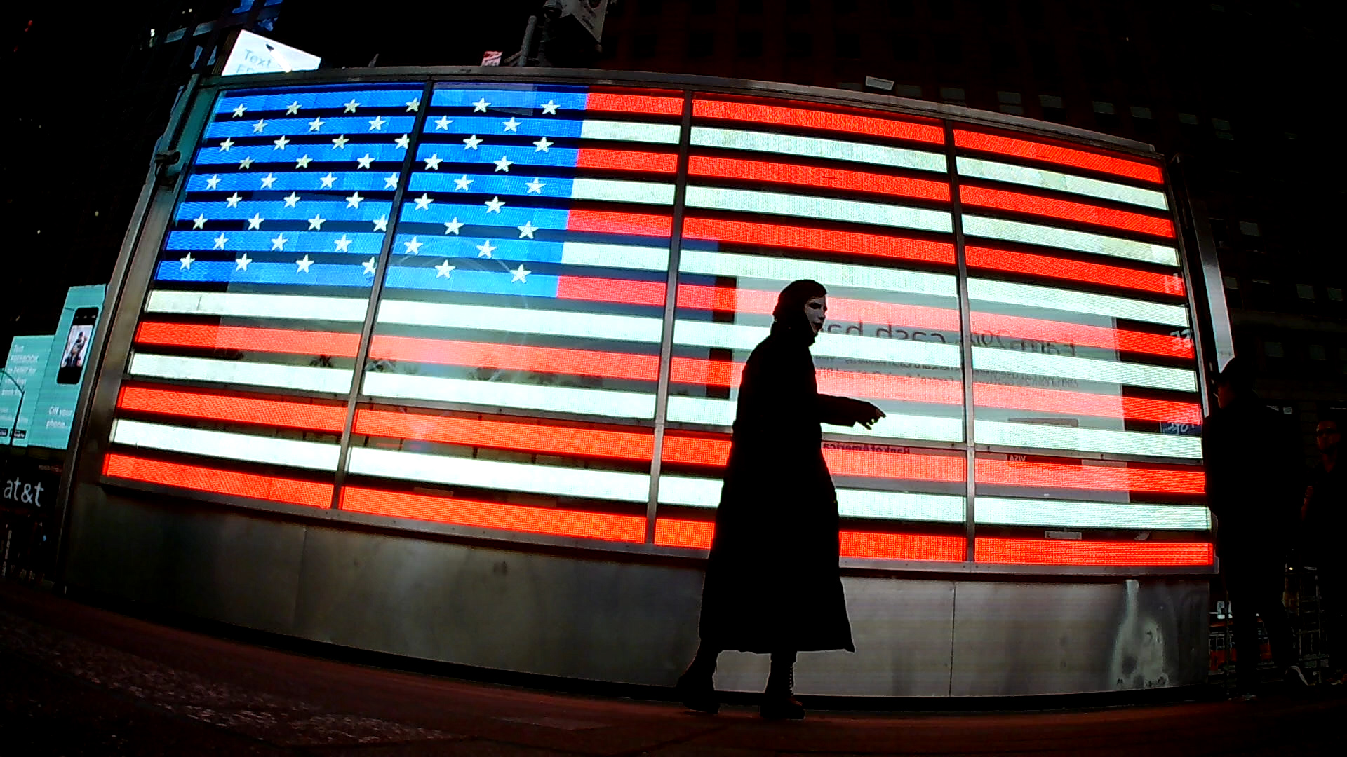 American Flag - Time Square - New York City NY 2016